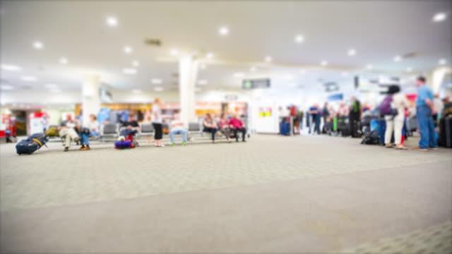 Traveler at Airport Departure Terminal, Time lapse