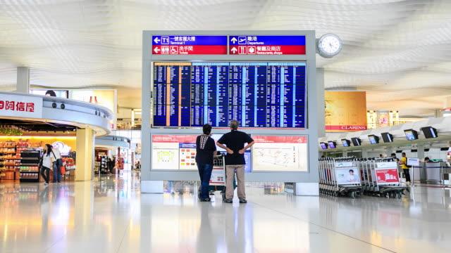 Traveler Crowd at Airport Departure Hall