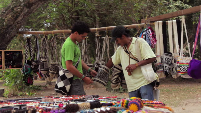 MS TS Traveler stopping to buy local craft / Tyrona N. Park, Magdalena, Colombia