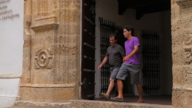 MS TS Travelers coming out from palace of Inquicition / Cartagena, Bolivar, Colombia