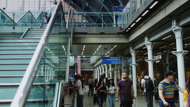 Travelers in St Pancras