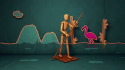 Travelers Mannequin Animation - Stop Motion Style  - Motion Graphics
