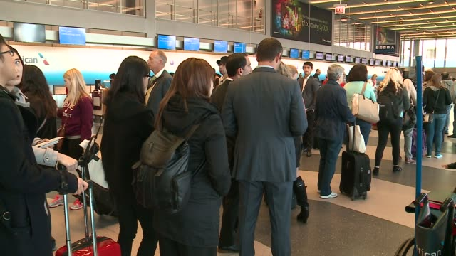 WGN Travelers Waiting in Long Lines at Chicago's O'Hare Airport on May 16 2016