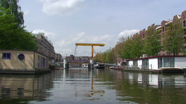 Traveling along an Amsterdam Canal