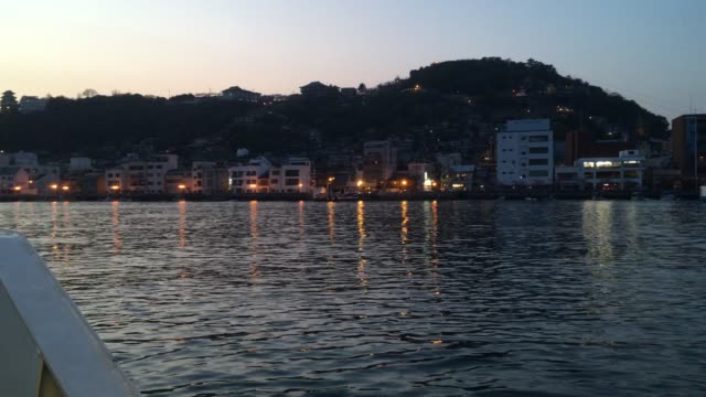 traveling by ferry - onomichi hiroshima stock videos and b-roll footage