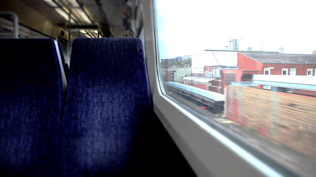 traveling by train in central london - seat stock videos & royalty-free footage
