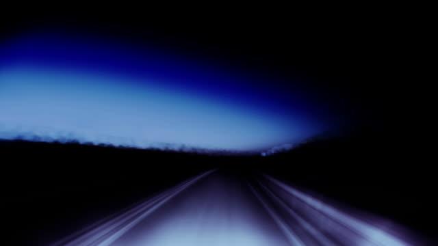 stockvideo's en b-roll-footage met traveling down a mystic blue highway. - monochroom