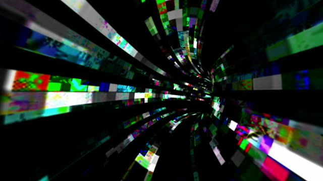 traveling down a tunnel of chaotic data flux - netzwerkserver stock-videos und b-roll-filmmaterial