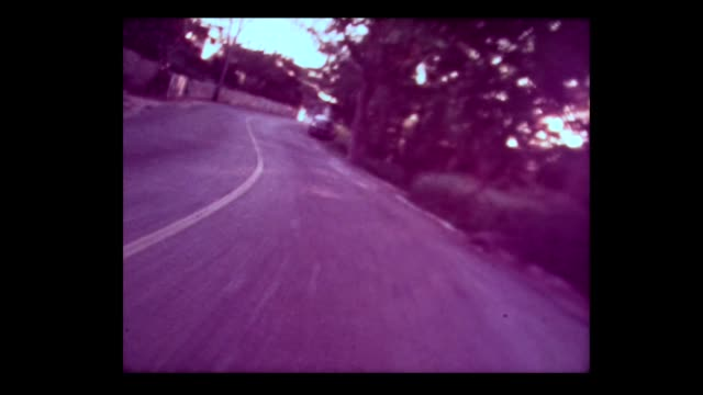 1976 traveling down country roads in bermuda - bermuda stock videos & royalty-free footage