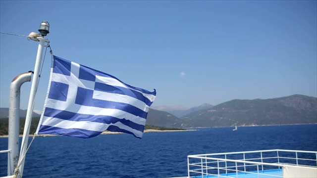 traveling in greece - tourboat stock videos & royalty-free footage