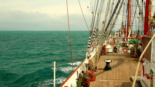 traveling on an old sailing ship - mast sailing stock videos & royalty-free footage