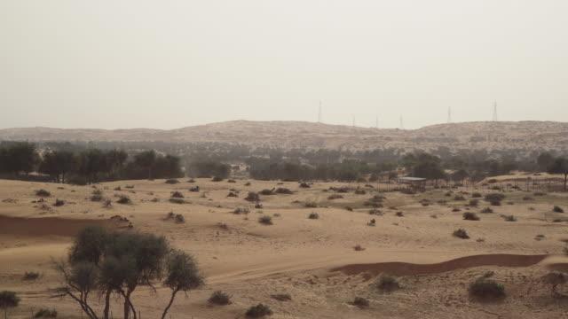 POV, traveling past desert landscape in Ras al-Khaimah