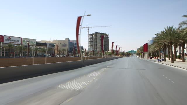 traveling shot on king abdullah road. - riyadh stock videos & royalty-free footage