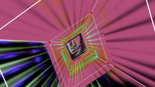vídeos de stock, filmes e b-roll de traveling through a plexus tunnel digital video glitch malfunction - contorcido