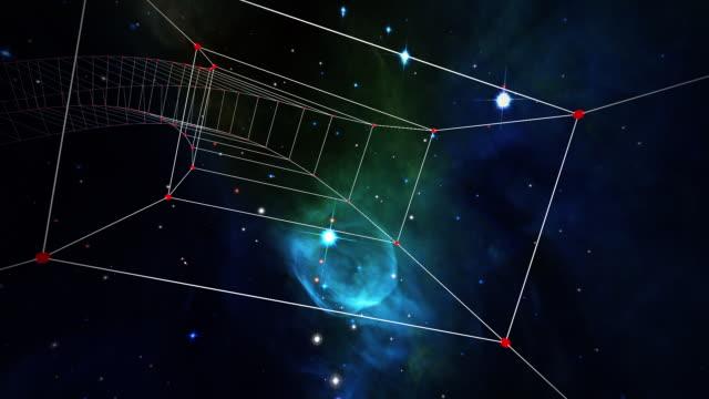 traveling through a plexus tunnel in space (loop). - 宇宙・天文点の映像素材/bロール