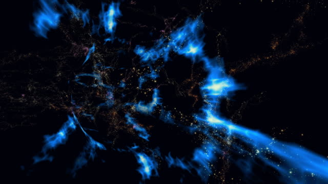 traveling through a wormhole in space - special effect stock videos & royalty-free footage