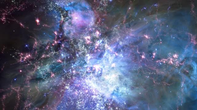traveling through star fields in deep space (loop). - nebula点の映像素材/bロール