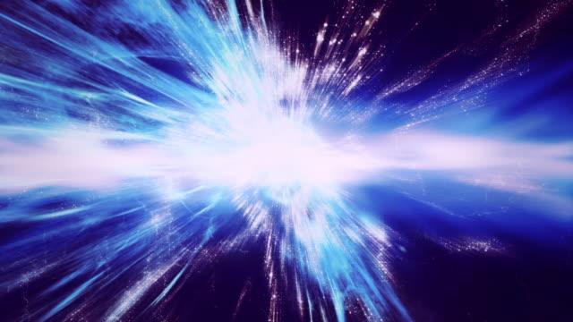 vídeos y material grabado en eventos de stock de traveling through star fields in space as a supernova bursts light - supernova