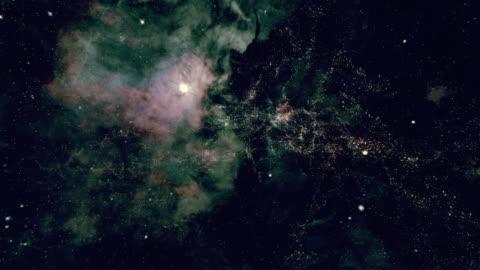 traveling through star fields in space - rymd och astronomi bildbanksvideor och videomaterial från bakom kulisserna