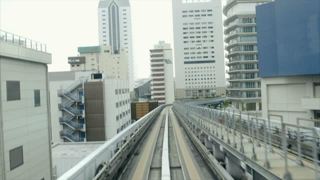 お台場にご旅行をゆりかもめ鉄道 - モノレール点の映像素材/bロール