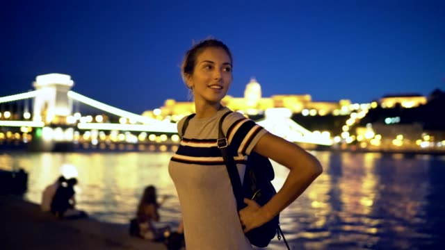 traveller walking in budapest - budapest stock videos & royalty-free footage