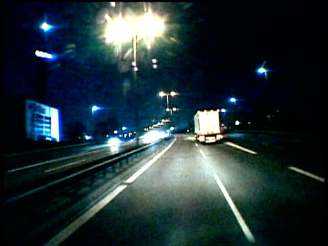 Travelling along Autobahn into Hamburg