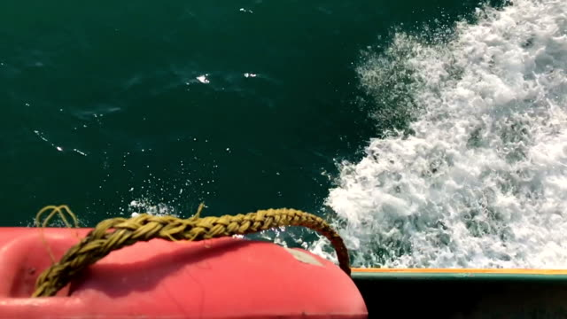 Travelling by boat slow motion