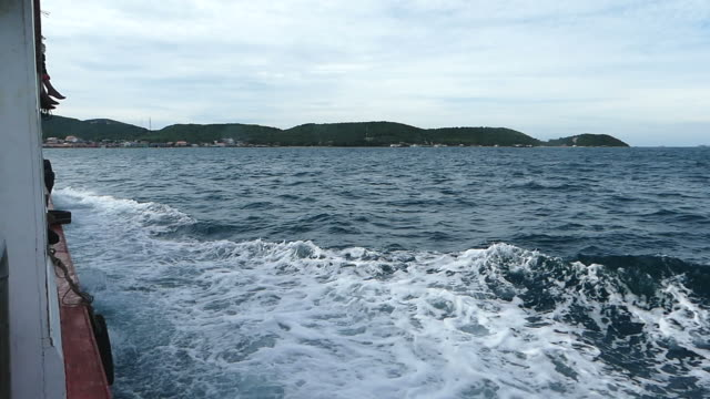 Travelling by boat to the island