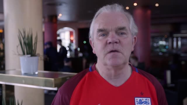 travelling england fans grant and gary predict the result of england v germany discuss who they want to see play rooney's international future and... - ian wright stock videos and b-roll footage