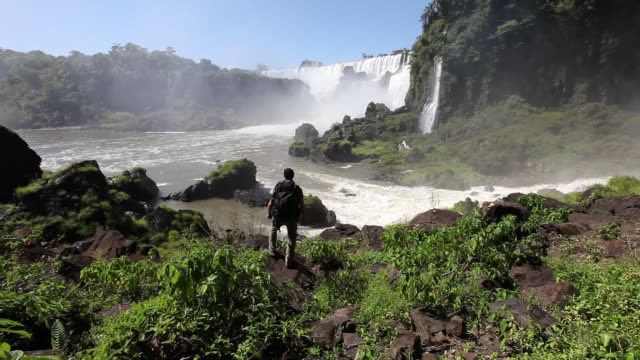 Travelling Man at  Iguazu Falls