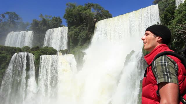 Travelling Man at  Iguazu Falls