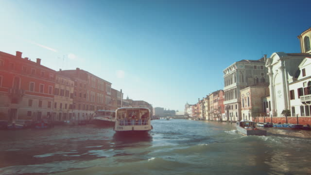ws - travelling on grand canal - venice italy stock videos & royalty-free footage