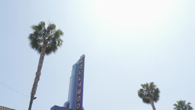 vidéos et rushes de travelling on hollywood boulevard with car, hollywood, los angeles, la, california, united states of america, north america - hollywood boulevard