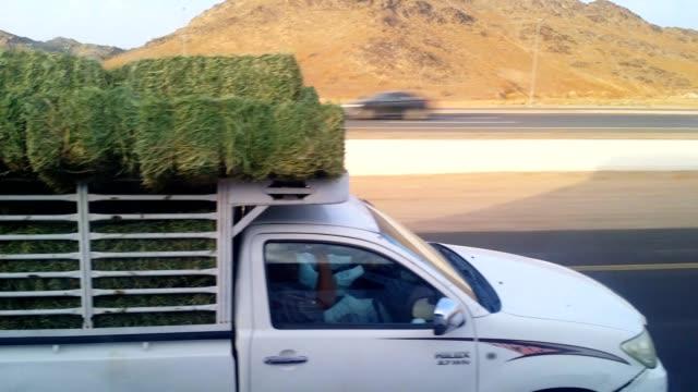 travelling on motorway from madinah makkah. - main road stock videos & royalty-free footage