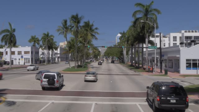 Travelling on Washington Street in South Beach, Miami, Florida, United States of America, North America