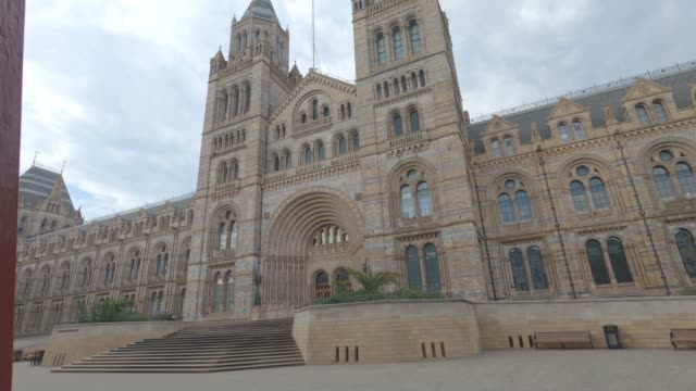 travelling shot of a deserted natural history museum, during uk lockdown, usually one of london's most popular tourist attractions. the government... - one person stock videos & royalty-free footage