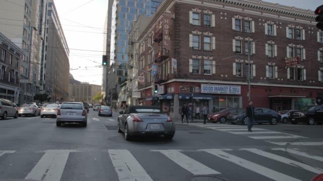 vídeos y material grabado en eventos de stock de travelling streets in the car, san francisco, california, united states of america, north america - california