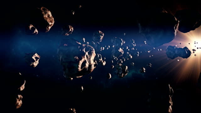 travelling through asteroid belt - ring stock videos and b-roll footage