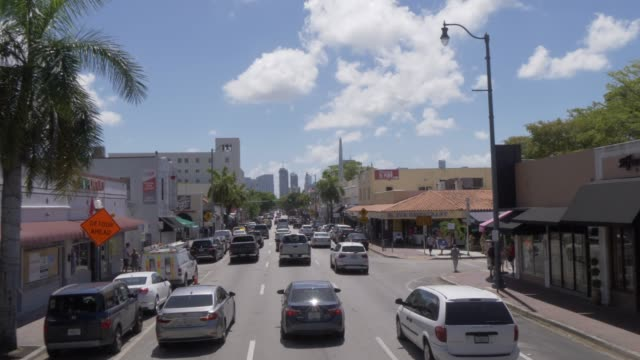 Travelling through Little Havana on 8th Street, Miami, Florida, United States of America, North America