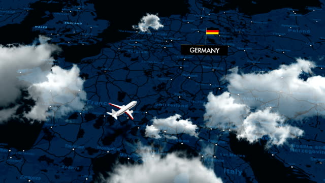 travelling to germany on map - direction stock videos & royalty-free footage