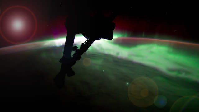 ISS NASA Travelling Towards Aurora Australis
