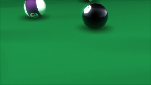 travelling with the cue ball on a pool break - cue ball stock videos & royalty-free footage