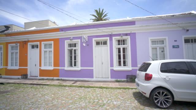 travessa dos venezianos, (street of the venetians) porto alegre southern brazil. - alegre stock videos & royalty-free footage