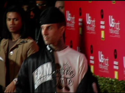 stockvideo's en b-roll-footage met travis barker at the us weekly hot hollywood awards at republic restaurant and lounge in los angeles california on april 26 2006 - travis barker