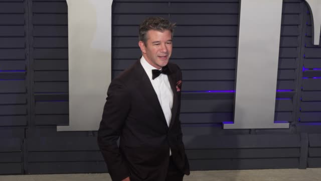 travis kalanick at 2019 vanity fair oscar party hosted by radhika jones at wallis annenberg center for the performing arts on february 24 2019 in... - vanity fair oscar party stock videos & royalty-free footage