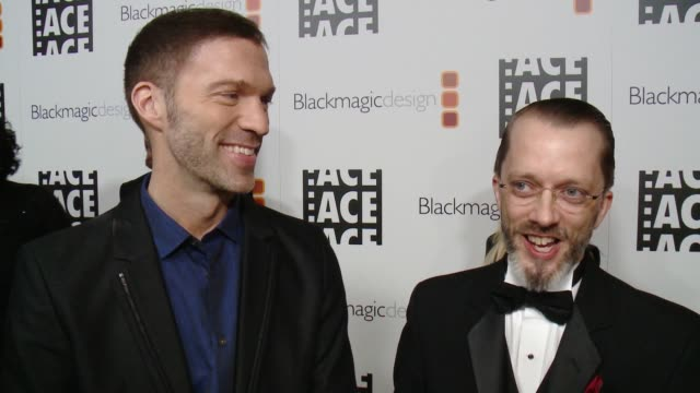 INTERVIEW Travis Knight Christopher Murrie on the event at 67th Annual ACE Eddie Awards in Los Angeles CA