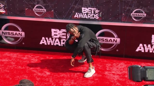 travis scott at the 2015 bet awards on june 28 2015 in los angeles california - black entertainment television stock videos & royalty-free footage