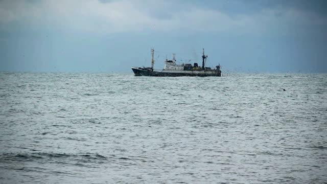 trawler on the high seas - trawler stock videos & royalty-free footage