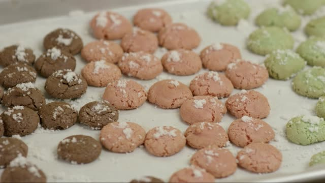 Tray of Holiday Cookies (amaretto) with sugar