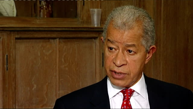 family meets prominent figures of british black community england london int parents of trayvon martin sol campbell lord ouseley and reporter sitting... - herman ouseley stock videos & royalty-free footage